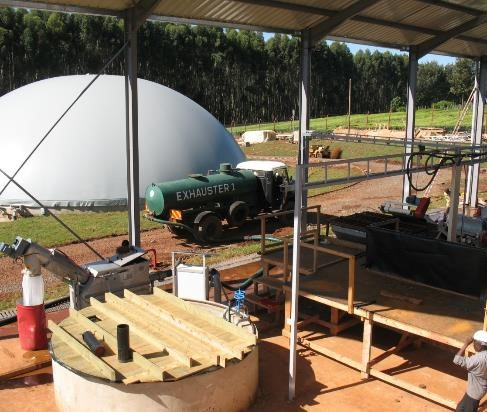 Biogasanlage in Kericho, Kenia