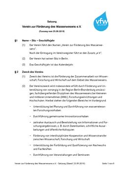 Satzung & Beitragsordnung