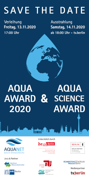 Flyer Save-the-date AQUA AWARD 2020